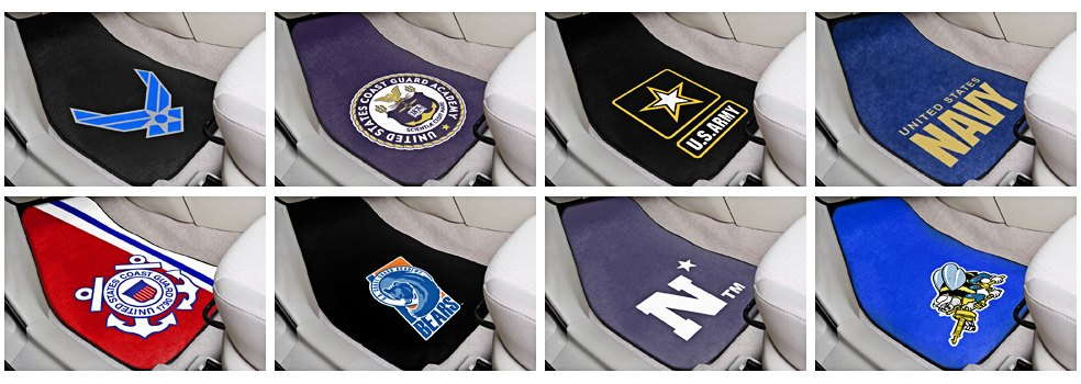 FanMats With US Military Branches Logos