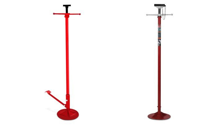 Blackhawk High Reach Stand and AFF Under Hoist Stand with Foot Pedal In Red