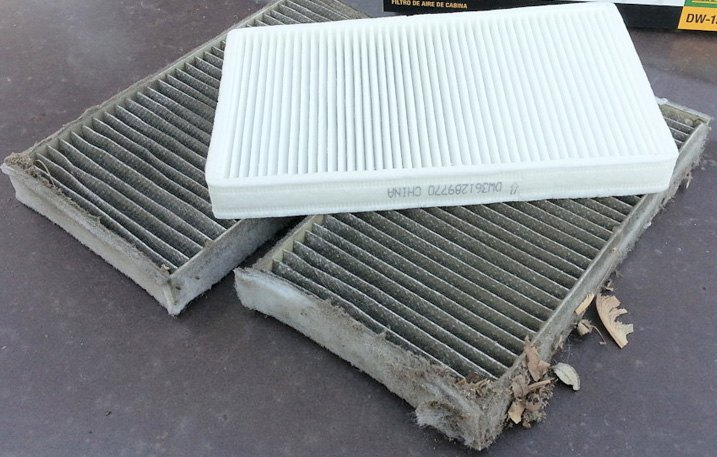 New / Worn-Out Cabin Air Filters