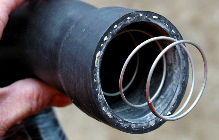 Typical Lower Coolant Hose With Internal Spring
