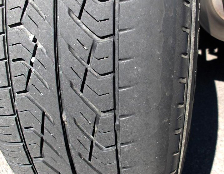 Tire Worn Out Along One Side