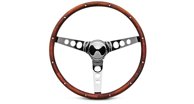 Classic Wood Steering Wheel By Grant