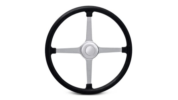 GT3 Competition Bell Style Rubber Steering Wheel With 4-Spoke Pattern
