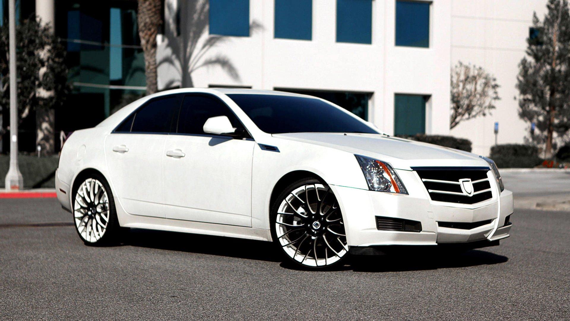белый автомобиль джип Cadillac CTS Sedan white car jeep в хорошем качестве