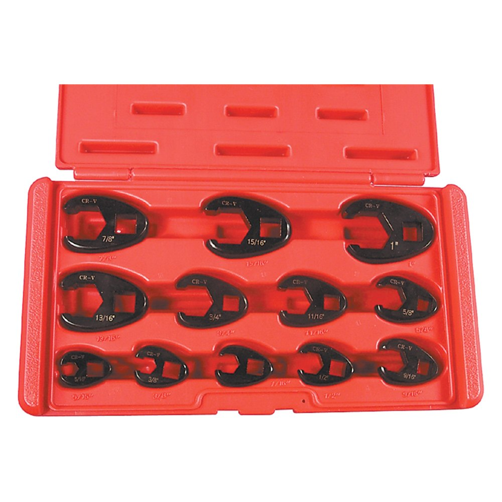 "Astro Pneumatic Tool® 7112 - 3/8"" Drive SAE Crowfoot Wrench Set"