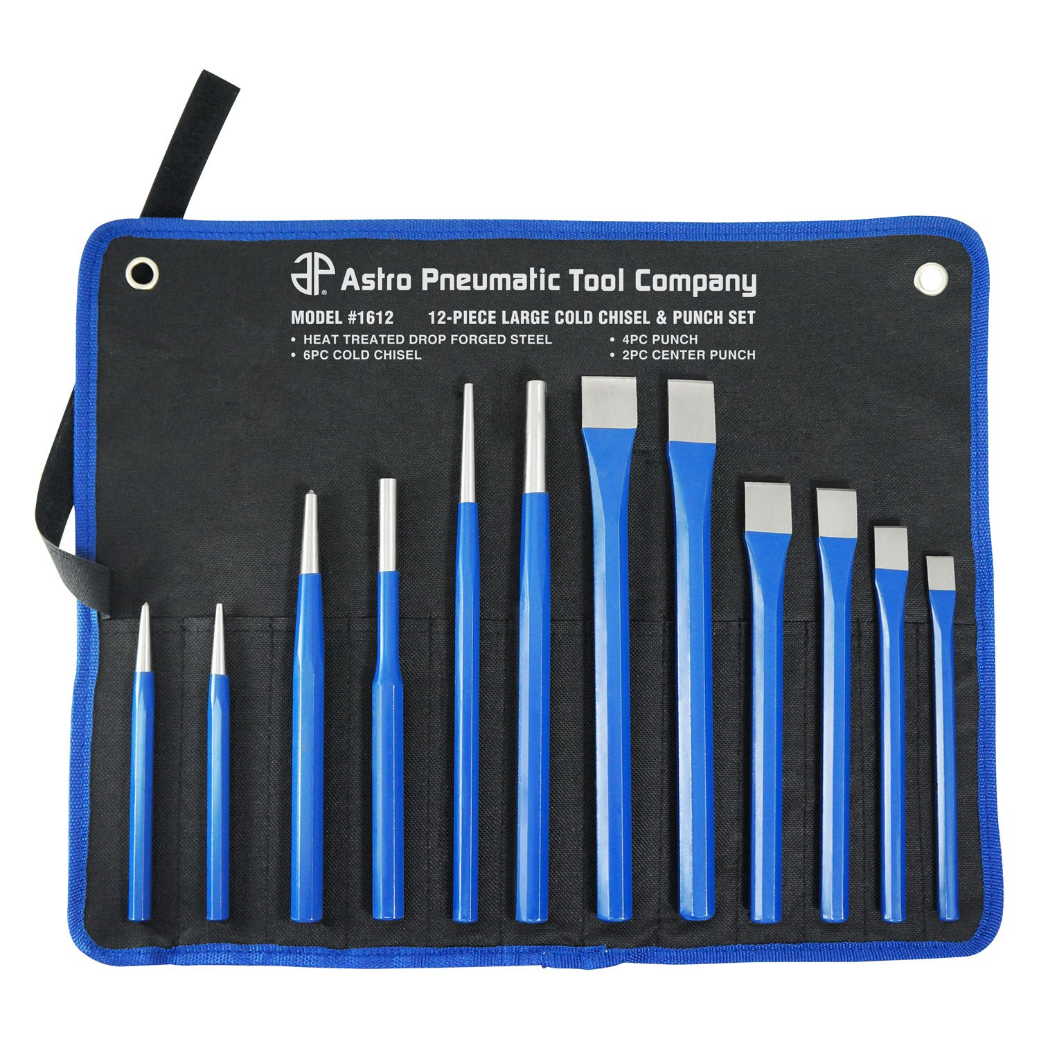 Astro Pneumatic Tool® 1612 - 12 Pcs. Large Cold Chisel and ...