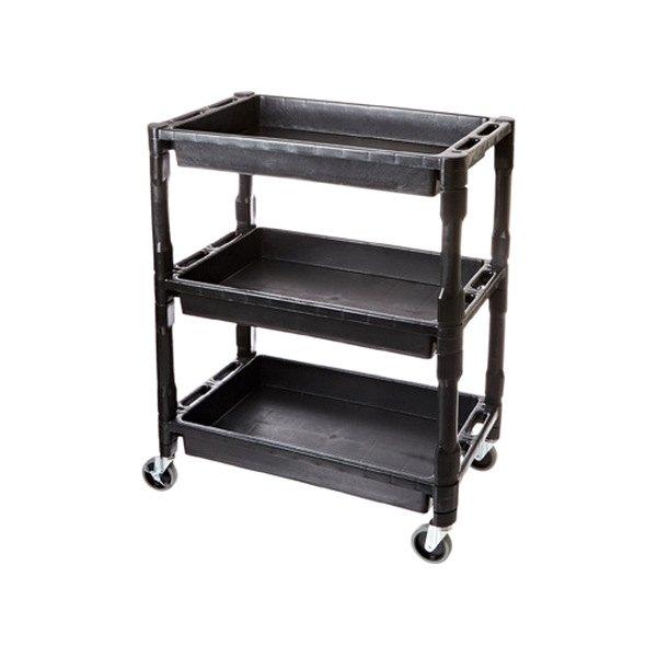 atd 7017 3 shelf heavy duty plastic utility cart. Black Bedroom Furniture Sets. Home Design Ideas