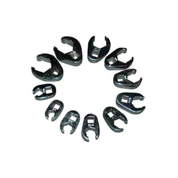 """ATD® 1090 - 11-Pcs 3/8"""" Drive SAE Flare Nut Crowfoot Wrench Set"""