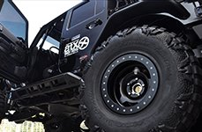 ATX SERIES® - SLAB Satin Black with Black Beadlock on Jeep Wrangler