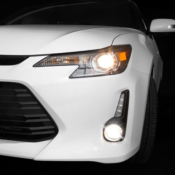 05-10 scion tc black dual halo projector led headlights.