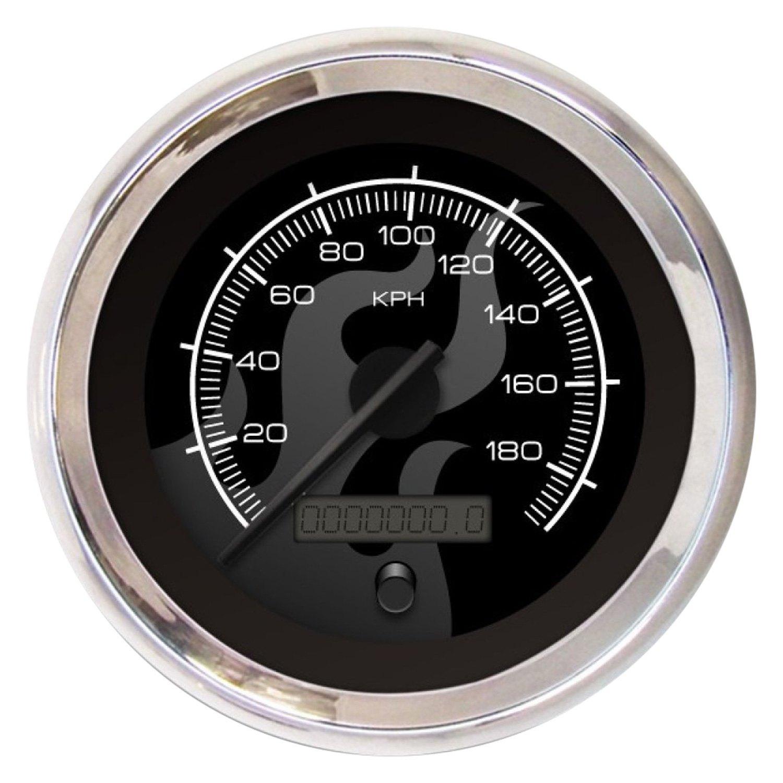Aurora Instruments GAR2114ZMXHACCD Ghost Tribal Series Speedometer Gauge