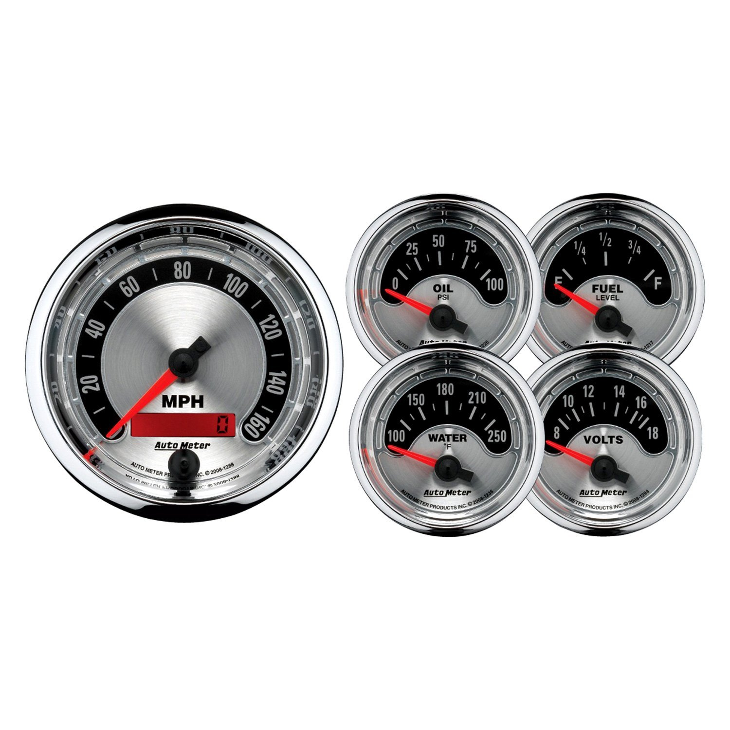 Auto Meter 1202 - American Muscle In-Dash Gauge Kit