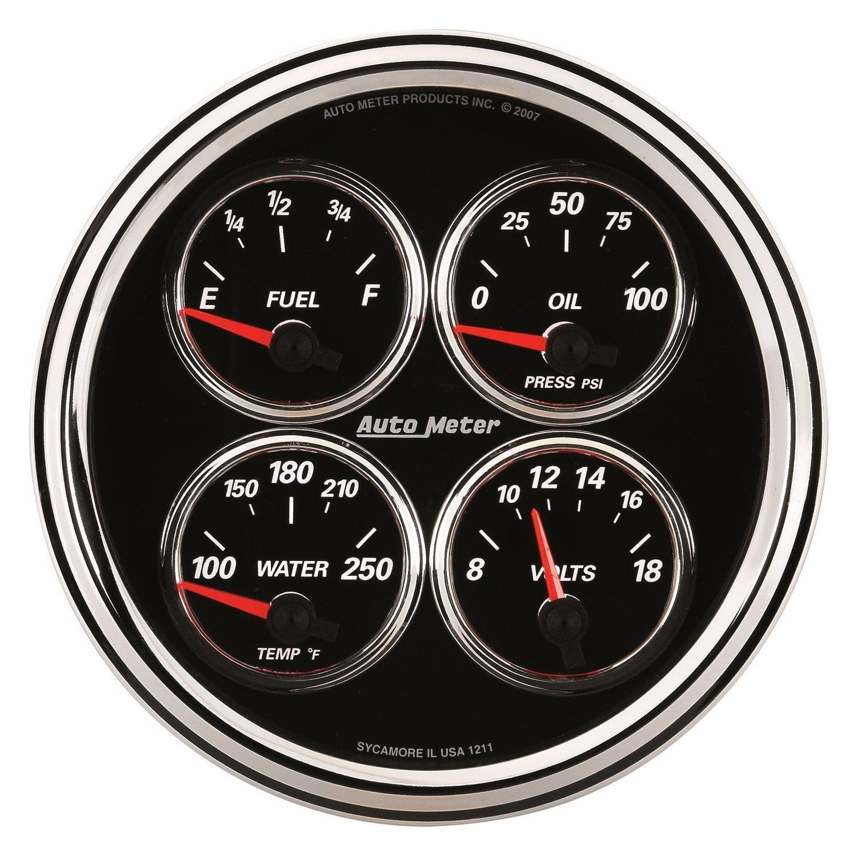 Voltmeters In Dash : Auto meter designer black ii™ fuel level oil