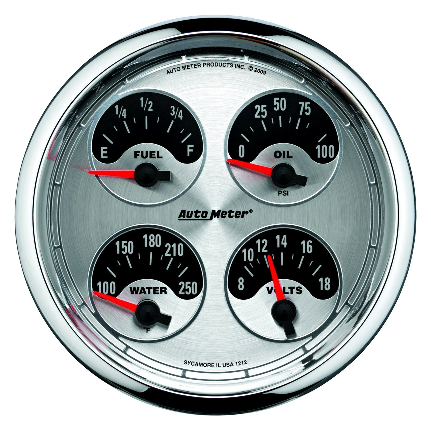 Voltmeters In Dash : Auto meter american muscle™ fuel level oil
