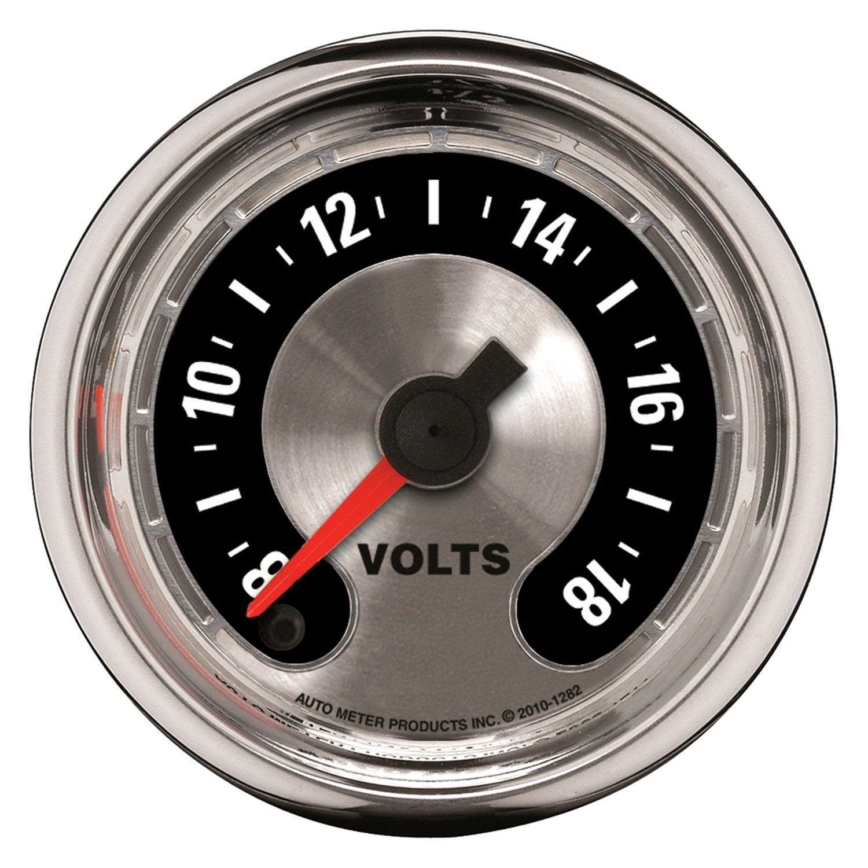In Dash Digital Voltmeters : Auto meter american muscle™ voltmeter in dash gauge