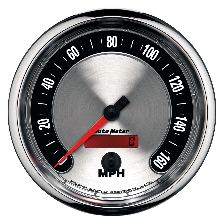 Deal On Wheels >> Auto Meter® 1289 - American Muscle™ Speedometer In-Dash Gauge