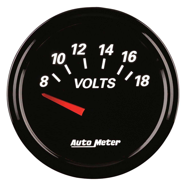 Voltmeters In Dash : Auto meter designer black ii™ voltmeter in dash gauge