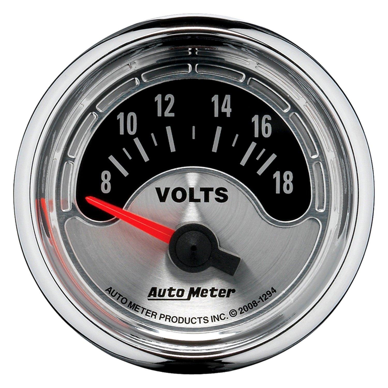 Auto Gage Gauges : Auto meter american muscle™ voltmeter in dash gauge