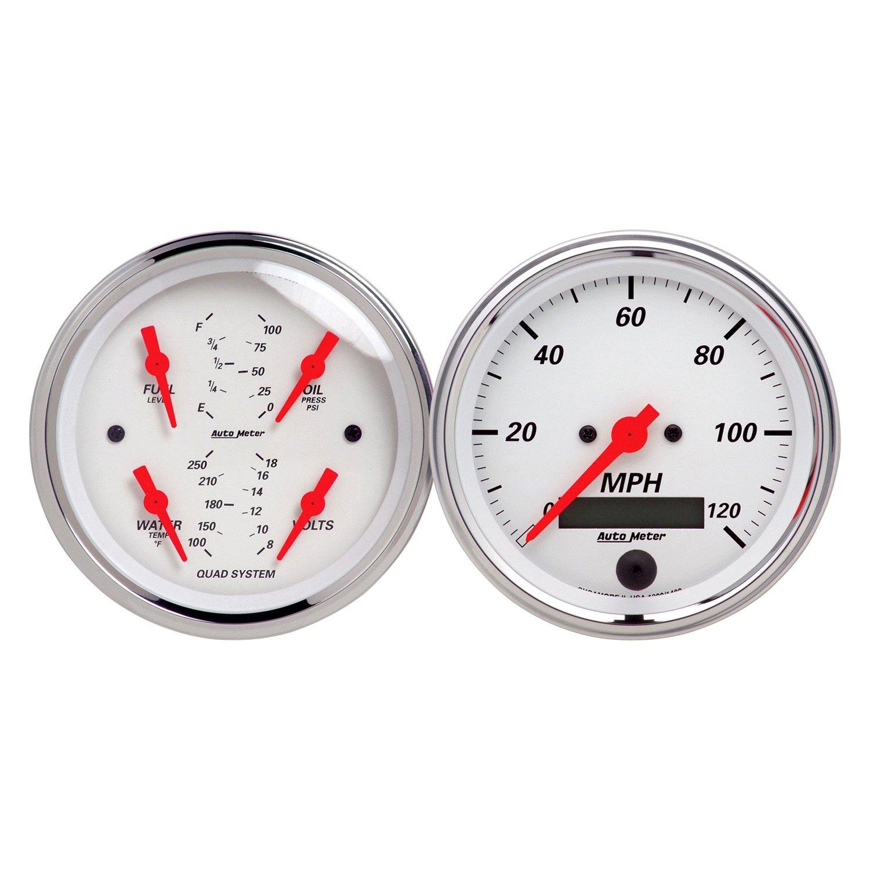 Auto Gage Gauges : Auto meter arctic white series quot quad and