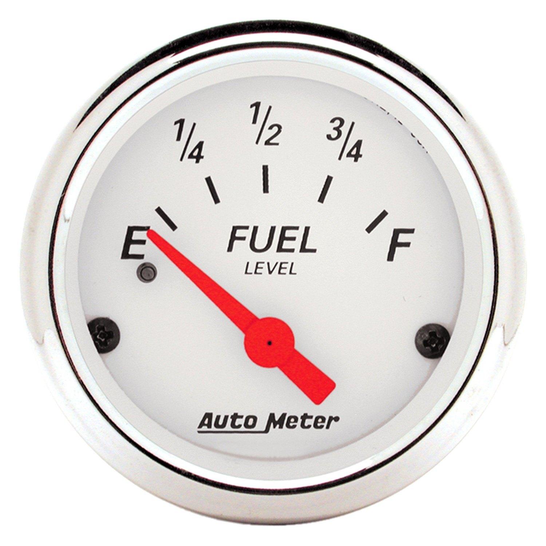 auto meter 1317 arctic white fuel level in dash gauge. Black Bedroom Furniture Sets. Home Design Ideas