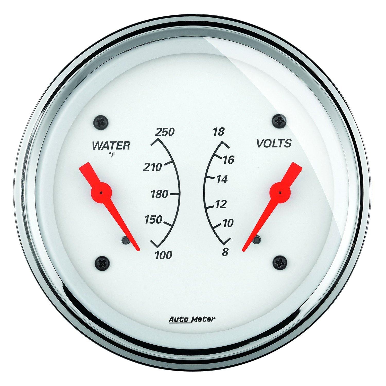 auto meter voltmeter wiring diagram auto meter® 1330 - arctic white™ water temperature ... arctic white auto meter gauges wiring diagram #5