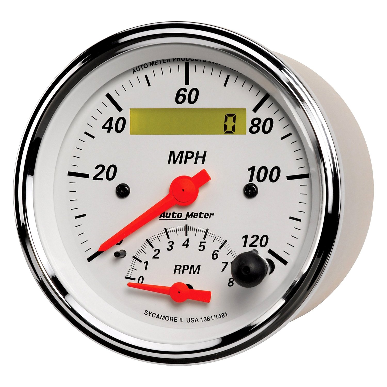 auto meter� 1381 arctic white series 3 3 8\
