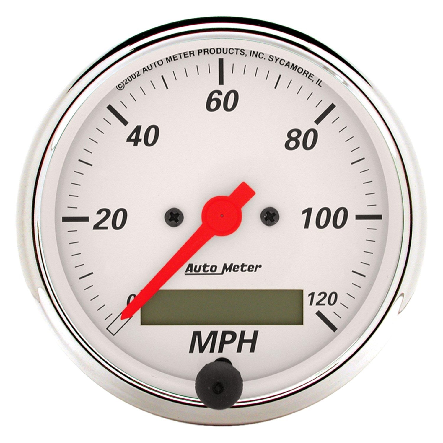 Auto Meter Electronic Speedometers : Auto meter arctic white™ speedometer in dash gauge