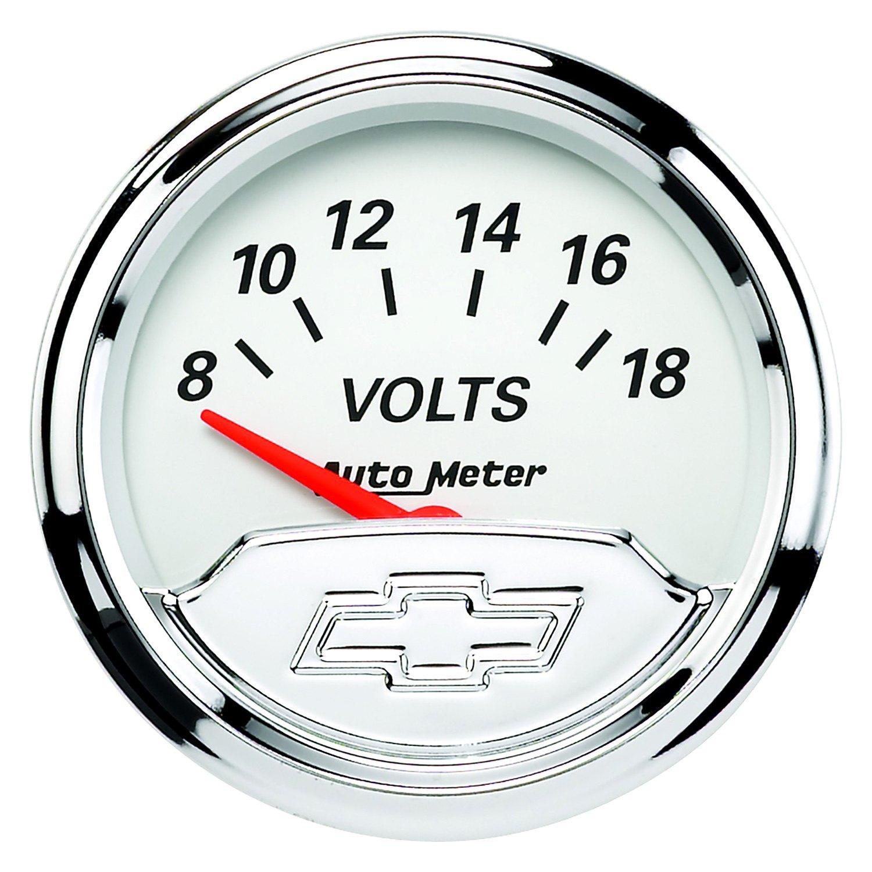 Voltmeters In Dash : Auto meter chevy vintage™ voltmeter in dash