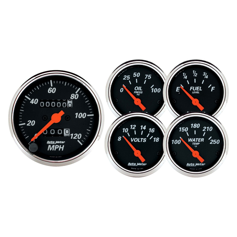 Electronic Auto Gauge Set : Auto meter designer black™ in dash gauge kit