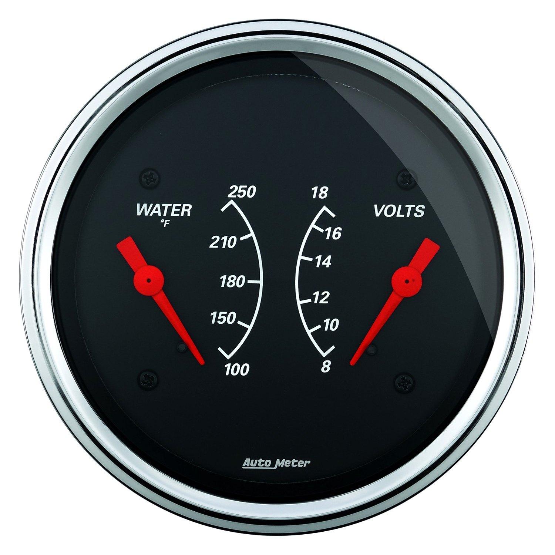 Voltmeters In Dash : Auto meter designer black series quot dual gauge