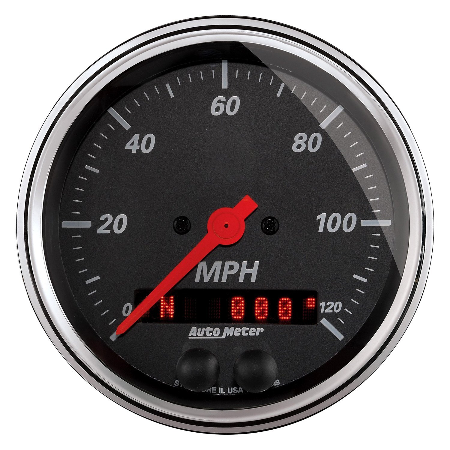Auto Meter Electronic Speedometers : Auto meter designer black™ speedometer in dash gauge