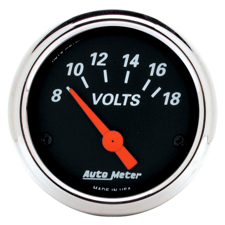 Voltmeters In Dash : Auto meter designer black™ voltmeter in dash gauge