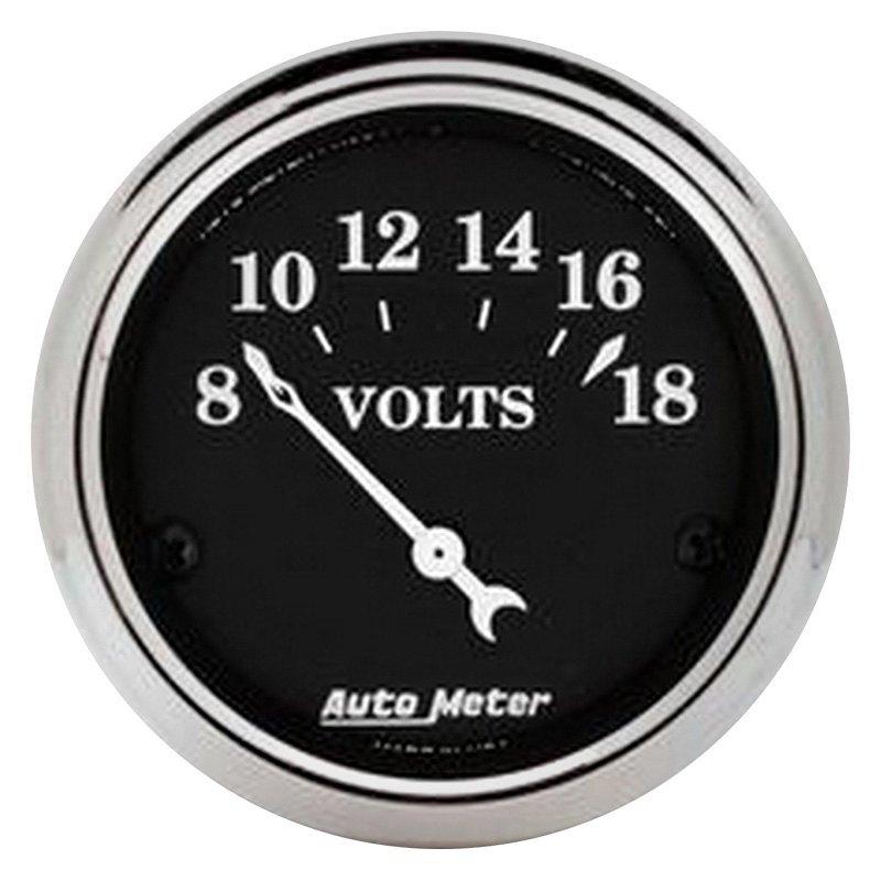 Voltmeters In Dash : Auto meter old tyme black™ voltmeter in dash gauge