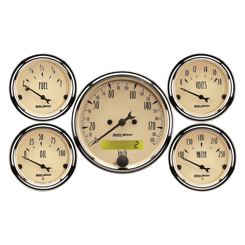 Antique Meter And Gauges : Auto meter antique beige™ in dash gauges