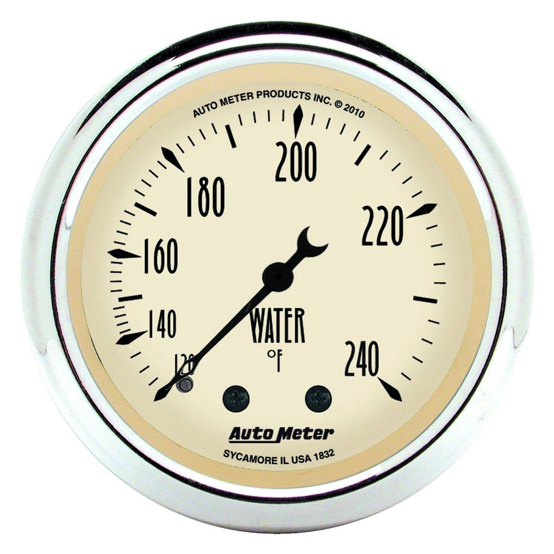 auto meter 1832 antique beige water temperature in dash gauge. Black Bedroom Furniture Sets. Home Design Ideas