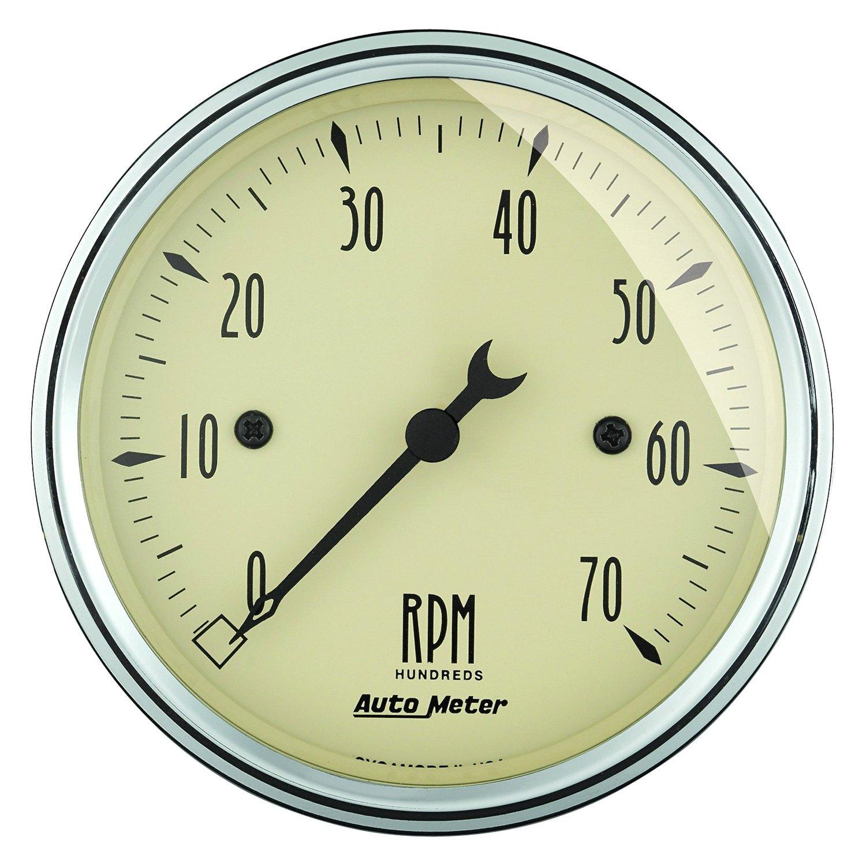 Antique Meter And Gauges : Auto meter antique beige™ tachometer in dash gauge