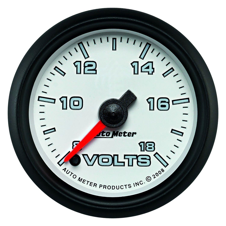 In Dash Digital Voltmeters : Auto meter pro cycle™ voltmeter in dash gauge