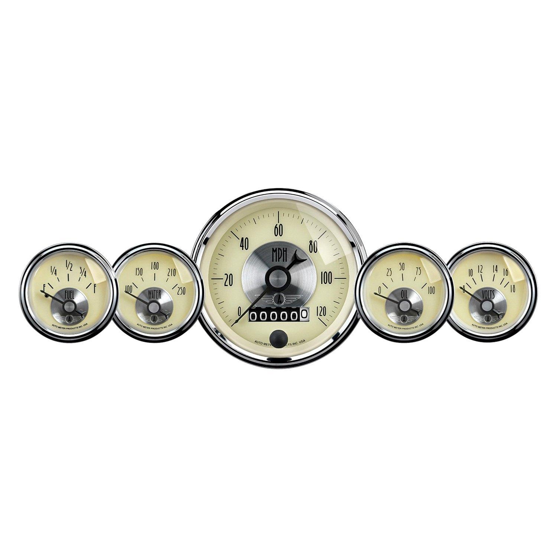 Car Gauges Set : Auto meter prestige antque ivory™ in dash gauge kit