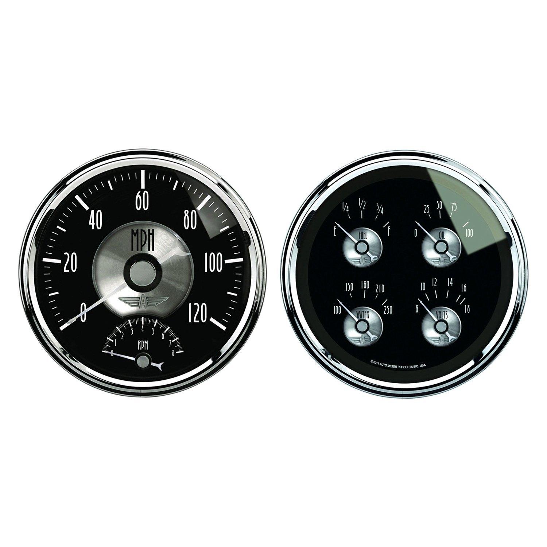 auto meter 2005 prestige black diamond in dash gauge kit. Black Bedroom Furniture Sets. Home Design Ideas