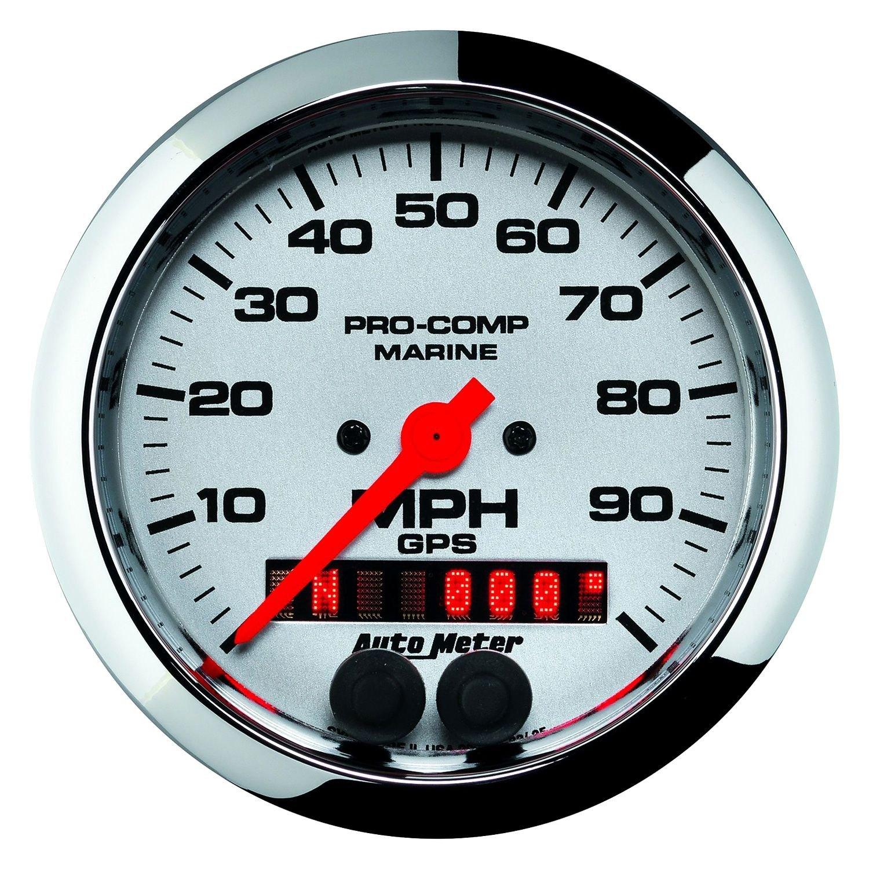 "Auto Warranty Reviews >> Auto Meter® 200636-35 - Marine 3-3/8"" Chrome In-Dash Mount GPS Speedometer Gauge"