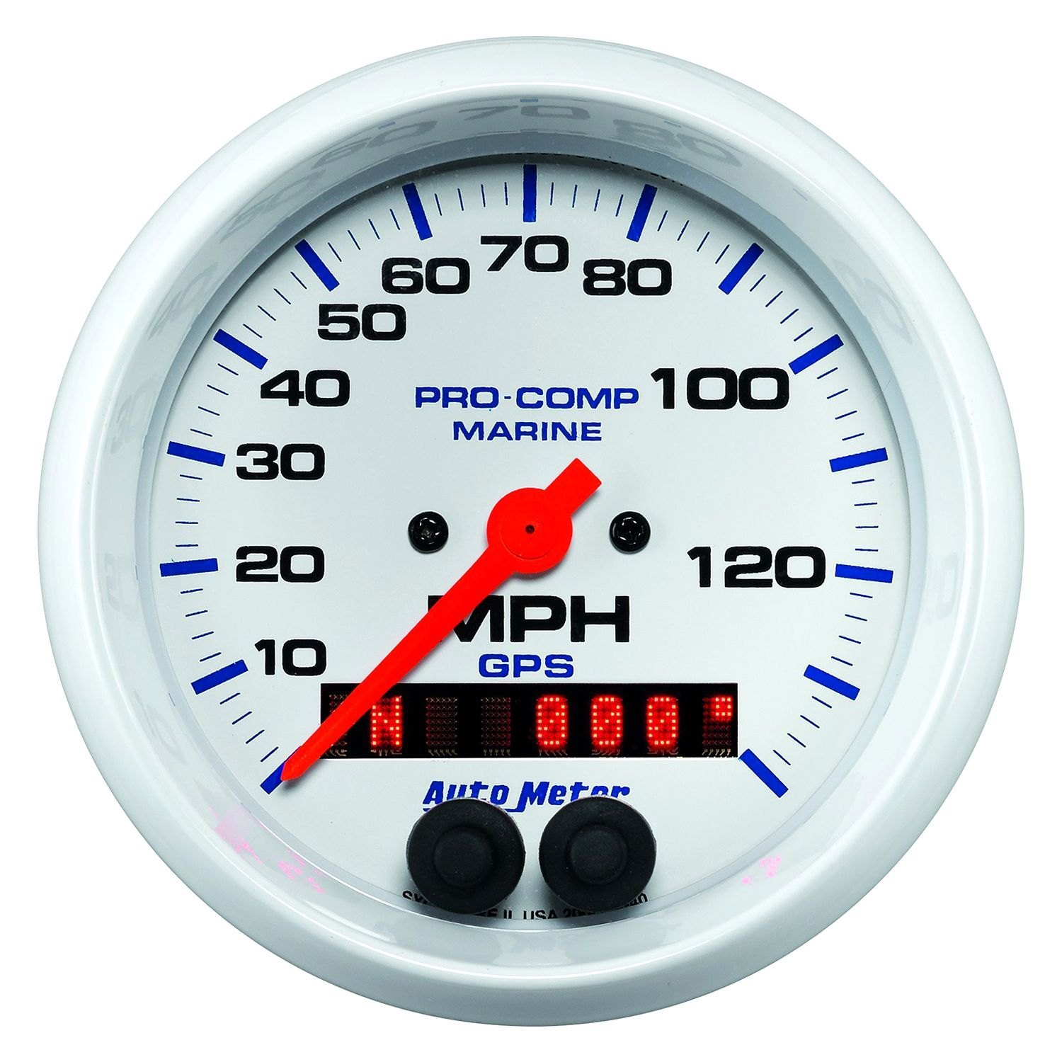 Auto Meter Electronic Speedometers : Auto meter  marine white™ speedometer in dash gauge