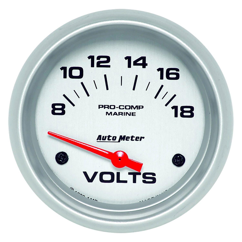 Voltmeters In Dash : Auto meter  marine silver™ voltmeter in dash gauge