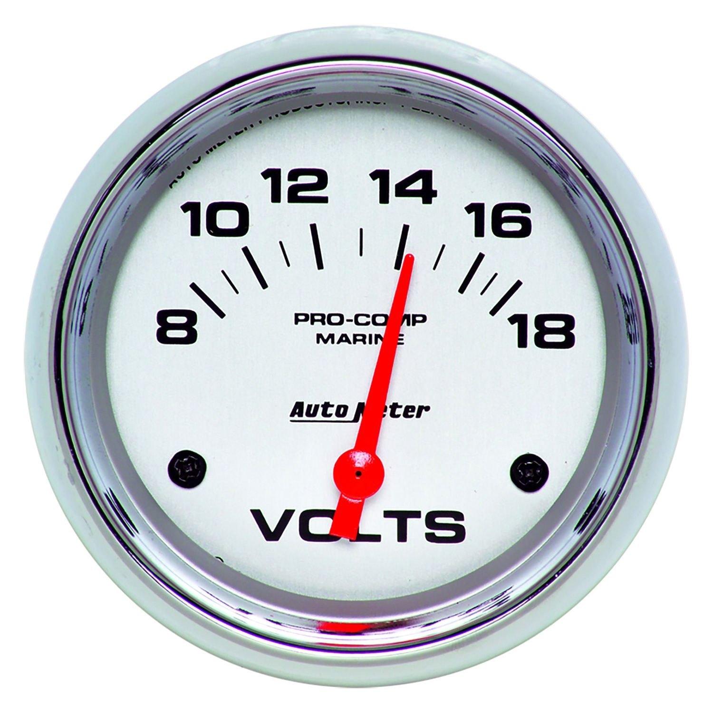 In Dash Digital Voltmeters : Auto meter  marine chrome™ voltmeter in dash gauge