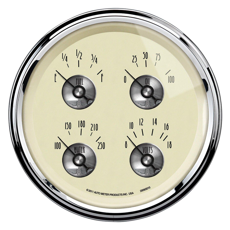 Antique Meter And Gauges : Auto meter prestige antique ivory™ fuel level oil