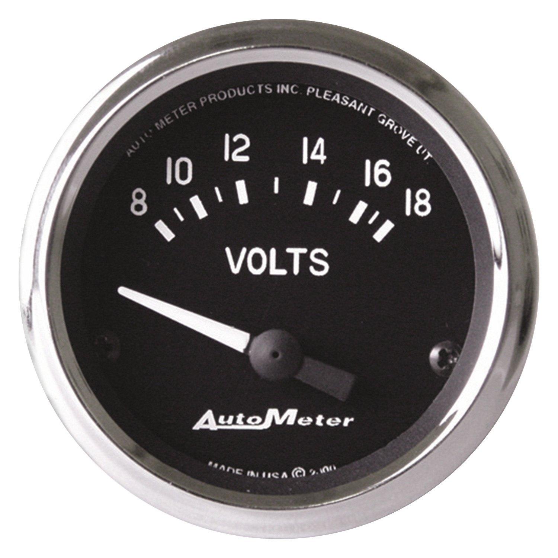 Voltmeters In Dash : Auto meter  cobra™ voltmeter in dash gauge