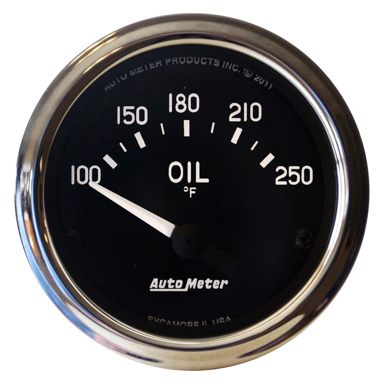 auto meter 201018 cobra oil temperature in dash gauge. Black Bedroom Furniture Sets. Home Design Ideas
