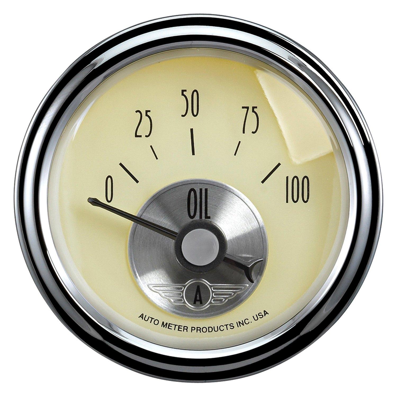 Antique Meter And Gauges : Auto meter prestige antique ivory™ oil pressure in
