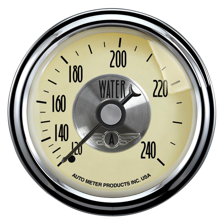 Antique Meter And Gauges : Auto meter prestige antique ivory™ water