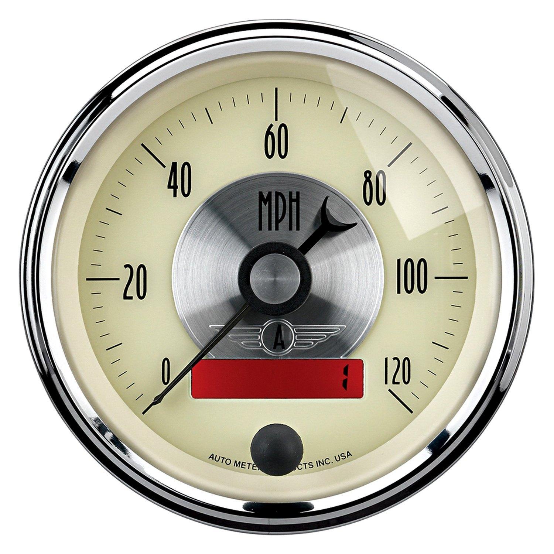 Antique Meter And Gauges : Auto meter prestige antique ivory™ speedometer in