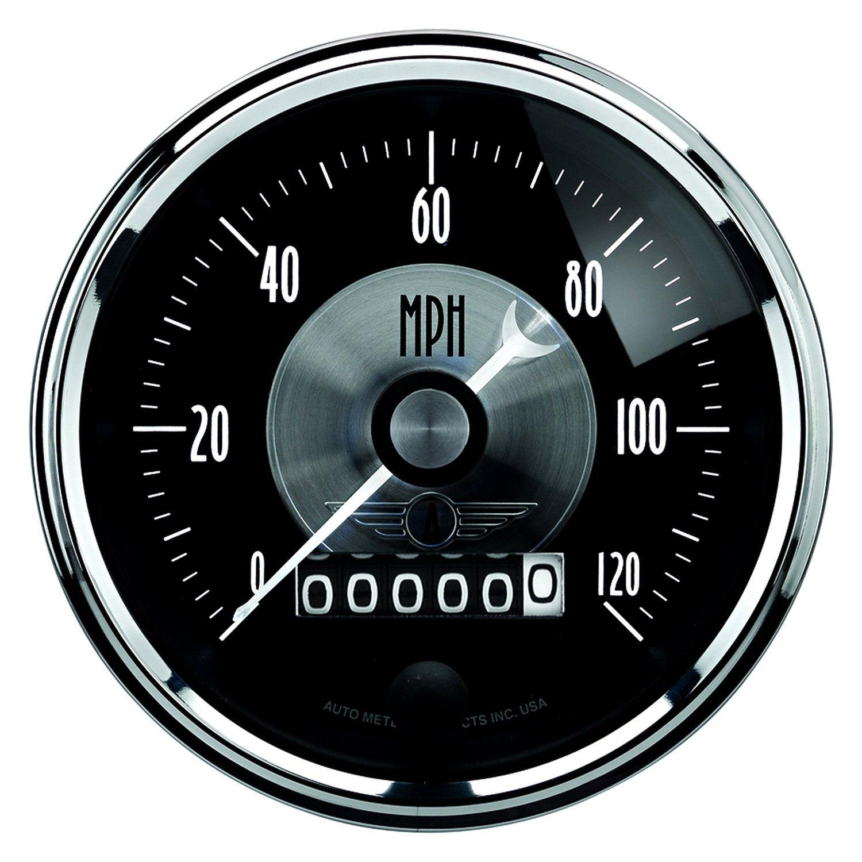 auto meter 2088 prestige black diamond series 3 3 8 speedometer gauge 0 120 mph. Black Bedroom Furniture Sets. Home Design Ideas